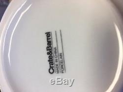 Crate & Barrel White Porcelain Dinner Plates, dishes