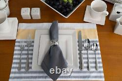 DINNERWARE SET 45-Piece Service for 6 Oven-to-Table Square White Stoneware