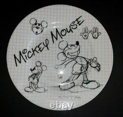 DISNEY 16pc MICKEY MOUSE Sketchbook DINNERWARE SET 90th ANNIVERSARY Zrike NWT
