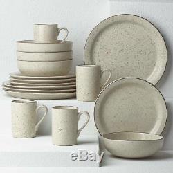 Dansk Kallan Speckle Stoneware 16-Piece Plates Bowls Mugs Dinnerware Set