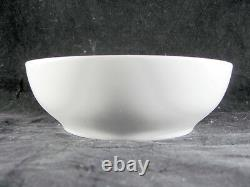 Denby White By Denby Plates Bowls, 9 pc, salad, cereal, soup, bread, all white
