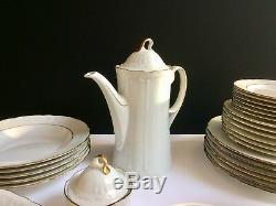 Dinner set White Gold Plate Sets Dish Dinnerware sets Seltmann vintage Tea set