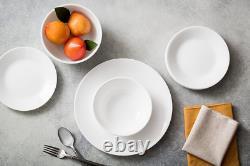 Dinnerware Set Corelle Livingware 18 Pieces In Winter Frost White Service for 6