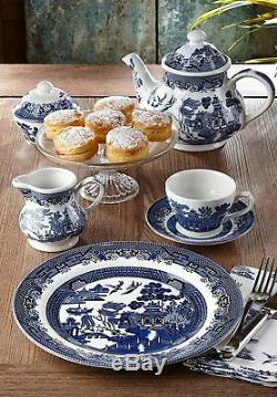 Dinnerware Set For 4 Blue White Plates Bowels Cups Saucers 20 Piece China Set