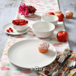 Dinnerware Set White Service for 8 40-Piece Round fine Ceramic