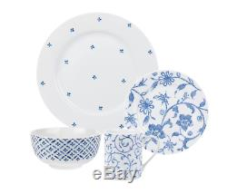 Dish Set China Dishes 16 Piece Dinnerware Set Mismatched Dish Sets Floral NEW