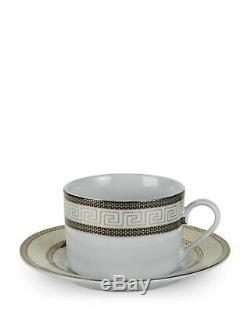 Euro Porcelain 57-pc Dinnerware Set'Greek Key' 24K Large Banquet Service for 8