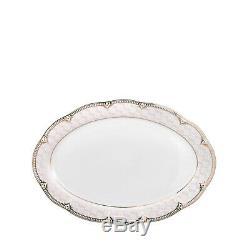 Euro Porcelain 57pc Dinnerware Set Premium Banquet Service for 8 Bone China Lola