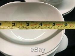Eva Zeisel Hallcraft White Dinnerware Set of 46 Pieces Very Rare! Mid Century