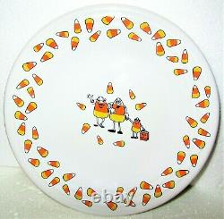 FIESTA HALLOWEEN CANDY CORN TRICK OR TREAT Luncheon Plate 9 EXTREMELY RARE