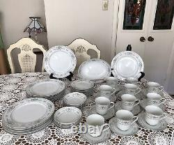 FINE PORCELAIN DINNERWARE SET -DIANE JAPAN- 52 Pieces