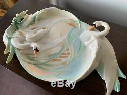 FZ01551 Franz Porcelain Swan platter rare new in the box