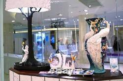 FZ03471 Franz Porcelain White Peacock Porcelain large Vase exclusive LTD (988)