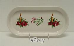 Fiesta Dinnerware Holiday-xmas Decorated Bread Tray On White Glaze