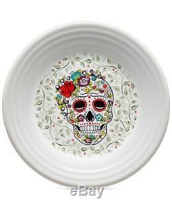 Fiesta Skull and Vines White Dinnerware Set Halloween Collection Dia de los Muer