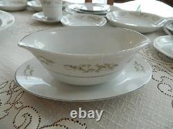 Fine China of Japan Springtime #326 Dinnerware Set for (12) 5 Serving Dishs 9-5