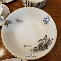 Fukagawa Arita-HAND PAINTED-Pattern 903-JAPAN 1950s DINNERWARE SET 64 Pieces