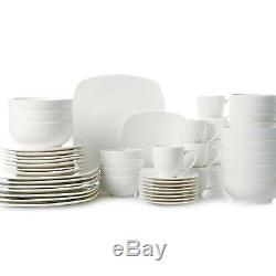 Gibson Home 48-Piece Square Dinnerware Set Procelain Service for 8 FREE SHIP NEW