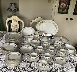 Golden Autumn 169 Craftsman China Japan Large Dinnerware Set 69 Pieces