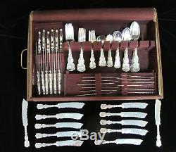 Gorham WHITING 140pc Sterling Silver LOUIS XV Flatware Dinnerware Set M Monogram