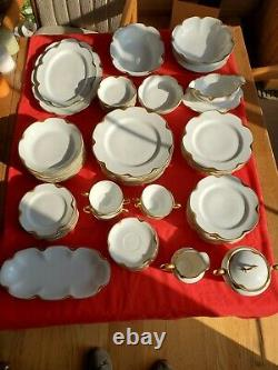 HAVILAND Limoges SILVER ANNIVERSARY 75 pc Dinnerware Set Schleiger 19
