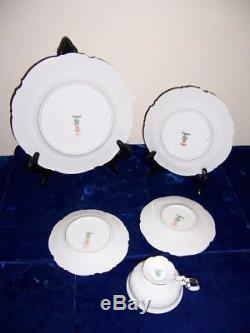 HUTSCHENREUTHER SELB SYLVIA WHITE BODY PLATINUM TRIM DINNERWARE 90 pc MSRP $2200