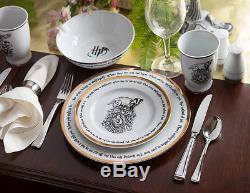 Harry Potter World 16 Piece Hogwart Dinnerware Full Set Gryffindor Dinner Plates