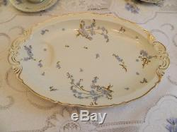 Haviland & Co. Limoges Montmery Dinnerware for (12) with (5) Serving Pieces 8-5