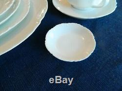 Haviland France Ranson White Dinnerware Set for 8 with5 Serving Pieces 7-5