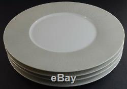 Haviland Infini French Dinnerware Limoges Porcelain Dinner Plates White SET OF 4
