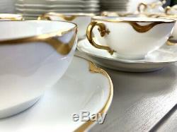 Haviland Limoges 78 Pc Dinnerware Set Silver Anniversary Schleiger 19 White Gold
