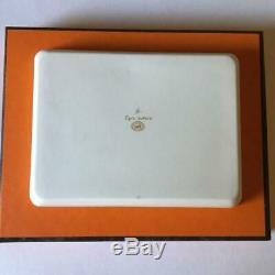 Hermes Egee Porcelain Plate Rectangular tray Aegean Dinnerware tableware