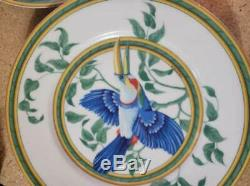 Hermes France 12 Piece Toucan Dinnerware Set White/Green/YellowithBlue