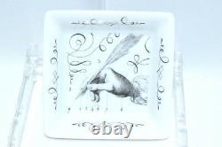Hermes Quill pen Porcelain mini Ashtray Dinnerware Change tray small YA6