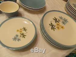 Homer Laughlin Color Harmony Blue Duchess Dinnerware Set 68 Pc Set Service for 8
