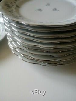 Johann Haviland Bavaria BLUE GARLAND Dinnerware Service for 12 Serving Pieces