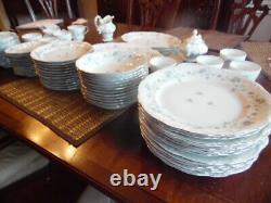 Johann Haviland Bavaria Germany Blue Garland Dinnerware Set 12 Person 88 Piece