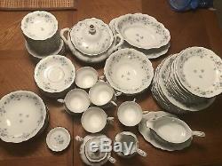 Johann Haviland Bavaria Germany Blue Garland Porcelain 90 Pieces