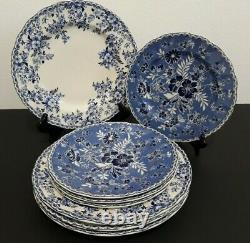 Johnson Brothers DEVON COTTAGE 4 DINNER & 4 SALAD PLATES Set of 8 GORGEOUS New