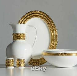 Katy Briscoe 24 K Gold 5 Piece Dining Dinnerware Set