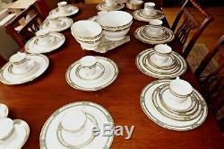 LENOX AVANTI 64 Pieces Bone China Pink, Green, White 14 Dinner &14 Cups/Saucers