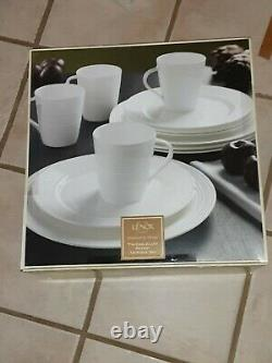 LENOX Tin Can Alley Seven Degree 12-piece Dinnerware Set NEW plates cups 332 ret