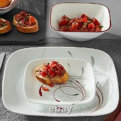 LUXURY Corelle Splendor Square 16-pc Dinnerware Set, Service for 4 FREE SHIPPING