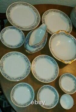 Large Lot of 130 Limoges M. Redon Vintage China Dinnerware Set. France