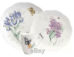 Lenox Butterfly Meadow 18-piece Dinnerware Set Service for 6 NEW Butterflies