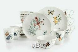 Lenox Butterfly Meadow 24 Piece Porcelain Dinnerware Set Service for 6 New