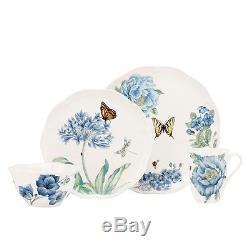 Lenox Butterfly Meadow Blue 32Pc Dinnerware Set, Service for 8