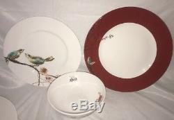 Lenox Chirp Scarlet 16 piece Dinnerware Set -Service for 4 NEW USA