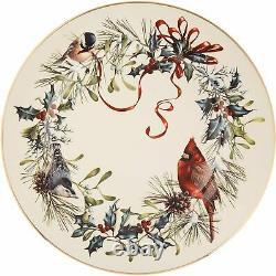Lenox Christmas Winter Greetings Dinnerware Set 12 PC Service For 4 Cardinal USA