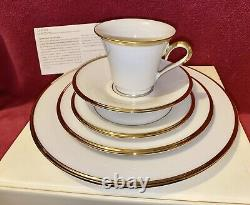 Lenox Eternal Gold Banded Bone China 5-Piece Place Setting- 2 Sets New in Box